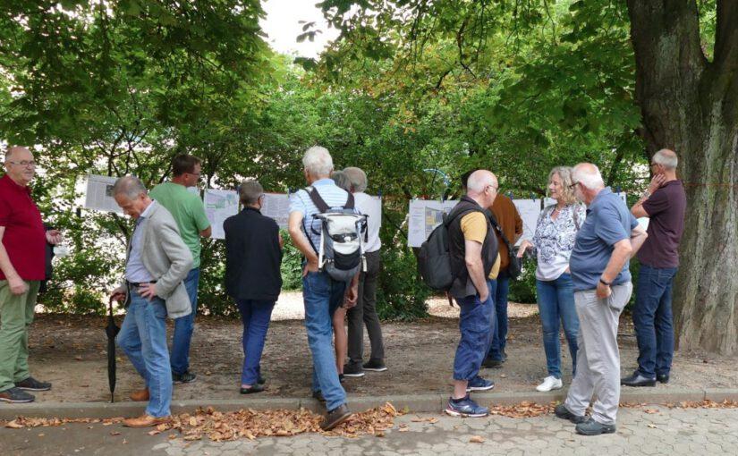 """Presseerklärung der GUD Zwingenberg zum Ortstermin zur Diskussion über den Bebauungsplan """"an der Melibokushalle"""" am 11.09.2021."""